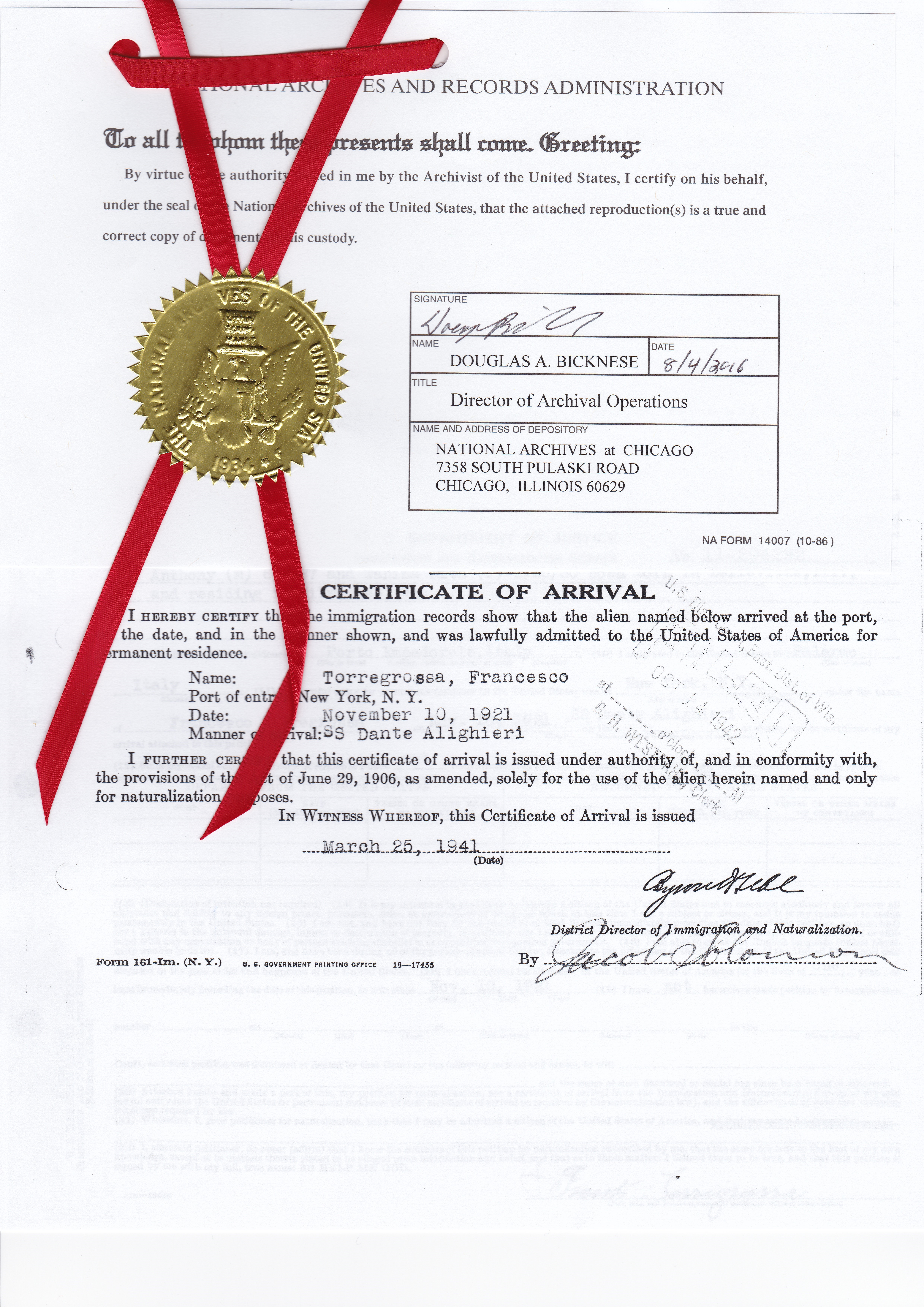 Order a naturalization record my italian family family tree order a naturalization record 1betcityfo Images